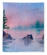 Little Trees Fleece Blanket