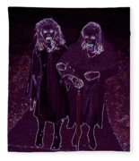 Little Vampires Fleece Blanket