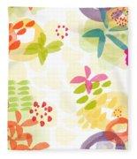 Little Watercolor Garden Fleece Blanket