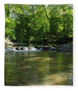 Little Waterfall At Green Lane Pa. Fleece Blanket