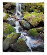 Little Waterfall In Marlay Park Fleece Blanket