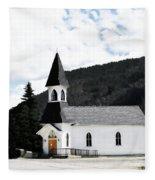 Little White Church Fleece Blanket