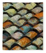 Littoral Roof Tiles Fleece Blanket