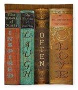 Live-laugh-love-books Fleece Blanket