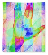 Live Long And Prosper 20150302v1 Color Squares Sq Fleece Blanket