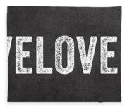 Live Love Eat Fleece Blanket
