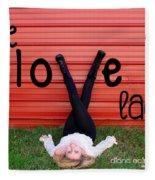 Live Love Laugh By Diana Sainz Fleece Blanket
