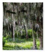 Live Oak Tree II Fleece Blanket