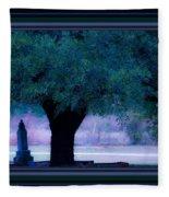 Live Oak Tree In Cemetery Fleece Blanket