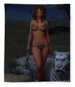 Live Wild And Free Fleece Blanket