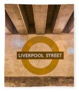Liverpool Street Underground Fleece Blanket