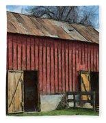Livestock Barn Fleece Blanket