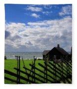 Living By The Sea Fleece Blanket