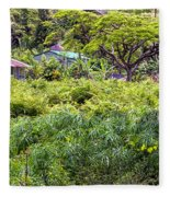 Living Off The Grid In The Waipi'o Valley Fleece Blanket