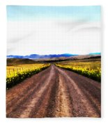 Living On Back Roads Fleece Blanket