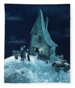 Living On The Moon Fleece Blanket