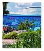 Living Seas Signage Walt Disney World Fleece Blanket