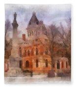 Livingston County War Memorial 01 Photo Art Fleece Blanket