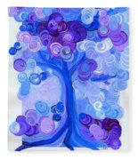 Liz Dixon's Tree Blue Fleece Blanket