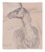 Llama Drawing Fleece Blanket