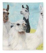 Llama Herd Camelid Farm Ranch Animal Art Fleece Blanket