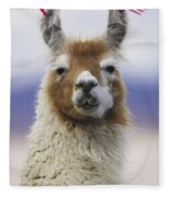 Llama In Bolivia Fleece Blanket