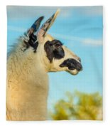 Llama Profile Fleece Blanket
