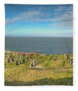 Llanbadrig Church Panorama Fleece Blanket