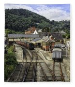 Llangollen Railway Station Fleece Blanket