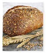Loaf Of Multigrain Bread Fleece Blanket