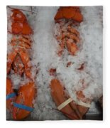 Lobster At Woodman's Fleece Blanket