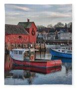 Lobster Boats At Motif 1 Fleece Blanket