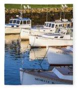 Lobster Boats - Perkins Cove -maine Fleece Blanket