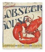 Lobster House Fleece Blanket
