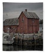 Lobster Shack - Rockport Fleece Blanket