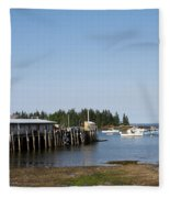 Lobster Wharf Fleece Blanket