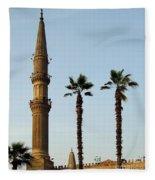 Local Cairo Mosque 02 Fleece Blanket