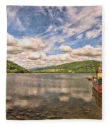 Loch Fyne Digital Painting Fleece Blanket