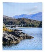 Loch Nan Uamh Viaduct 2 Fleece Blanket