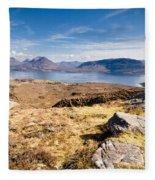 Loch Torridon From Bealach Na Gaoithe Fleece Blanket