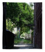 Locke Chinatown Series - Alley With Trees - 5 Fleece Blanket