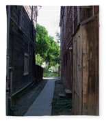 Locke Chinatown Series -  Alleyway With Trees - 4 Fleece Blanket