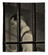 Locked Up Black And White Fleece Blanket