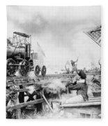 Locomotive, 1929 Fleece Blanket