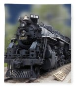 Locomotive 639 Type 2 8 2 Front And Side View Fleece Blanket