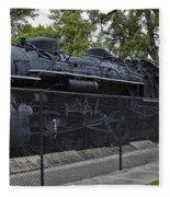 Locomotive 639 Type 2 8 2 Side View Fleece Blanket