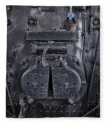Locomotive 886 Steam Boiler Firebox Fleece Blanket