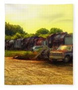 Locomotive Graveyard Fleece Blanket
