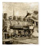Locomotive No. 15 In The Yard Fleece Blanket