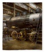 Locomotive - Repairing History Fleece Blanket